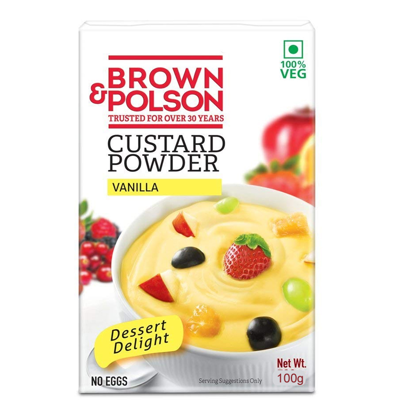 Brown & Polson Vanilla Custard Powder 100g