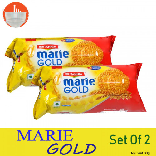 Britannia Biscuits - Marie Gold 83g+83g(Set Of 2 Pcs)