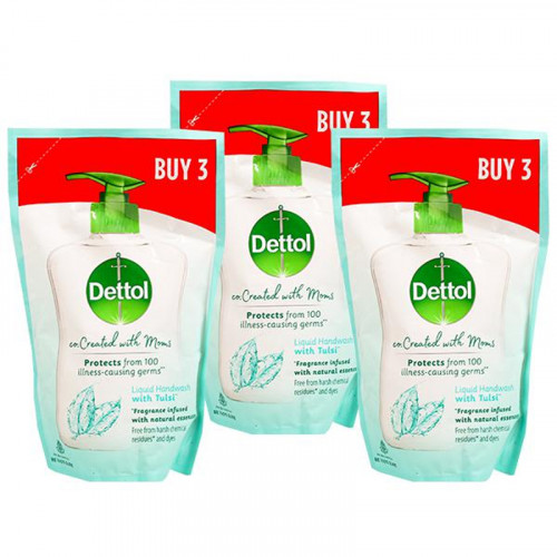 Dettol co.Created With Moms Tulsi Handwash 525 ml (Set Of 3)
