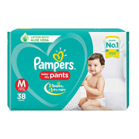 Pampers Baby Dry Pants-Medium Size-7-12kg-38 Pants