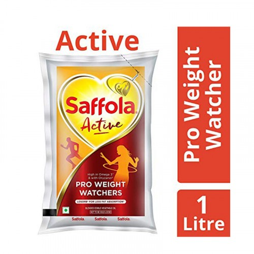 Saffola Active Edible Oil Pouch 1lt